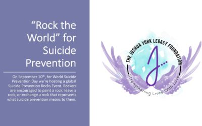 JYLF Coordinates a Global Suicide Prevention Awareness Event – Rock The World